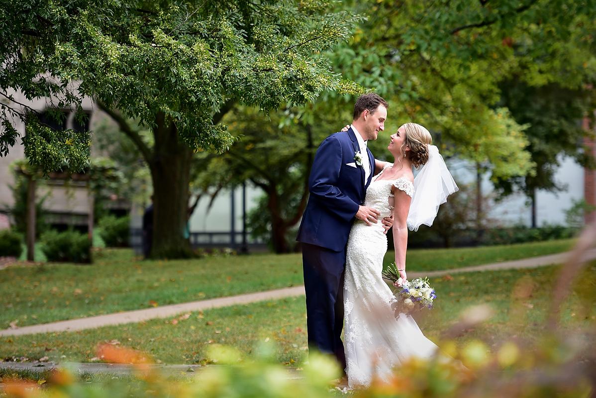 Illinois Wesleyan University Joslin Atrium Wedding Photos